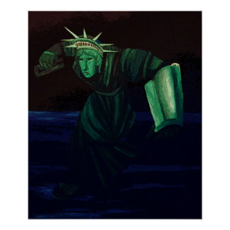Statue of Liberty Getting Up & Getting Busy Poster