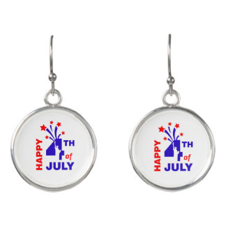 Statue of Liberty Happy 4th of July Earrings