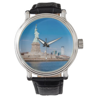 Statue of Liberty, Hudson River and Manhattan Wristwatch