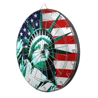 Statue of Liberty, New York Dartboard