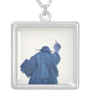 Statue of Liberty, New York, USA RF) Silver Plated Necklace