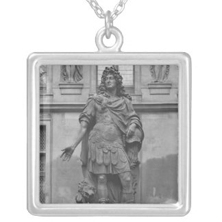 Statue of Louis XIV Silver Plated Necklace