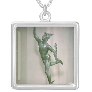 Statue of Mercury Silver Plated Necklace