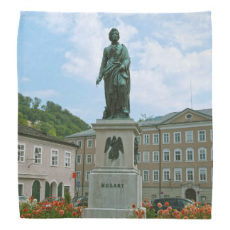 Statue of Mozart in Salzburg Bandana