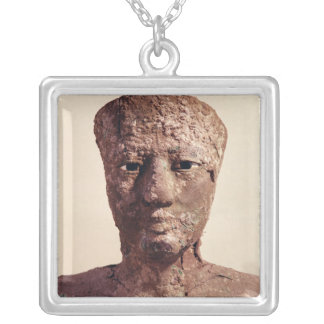 Statue of Pepi I Silver Plated Necklace
