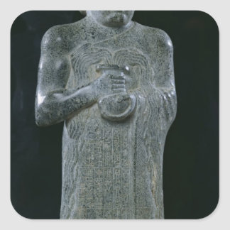 Statue of Prince Gudea, c.2150 BC Square Sticker