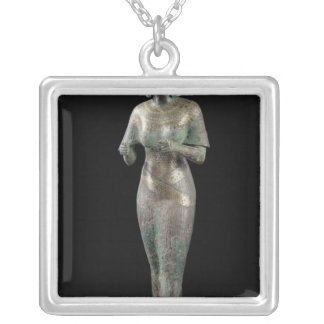Statue of the Divine Adoratress Karomama Silver Plated Necklace
