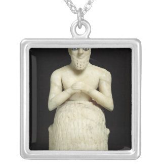 Statue of the official Ebih-Il Silver Plated Necklace