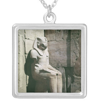 Statue of Tuthmosis III  New Kingdom Silver Plated Necklace