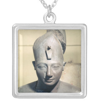 Statue of Tuthmosis III Silver Plated Necklace