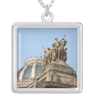 Statues on Tiradentes Silver Plated Necklace