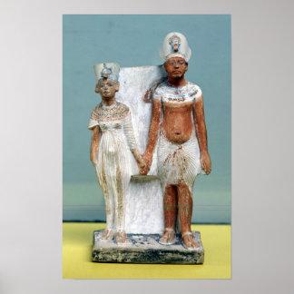 Statuette of Amenophis IV  and Nefertiti Poster