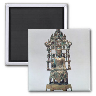 Statuette of Buddha in meditation, Tang Square Magnet