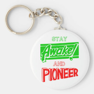 Stay Awake and Pioneer Basic Round Button Key Ring