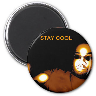 STAY COOL 6 CM ROUND MAGNET