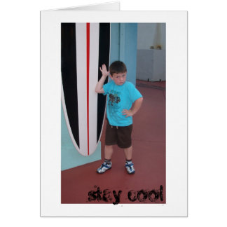 stay cool note card