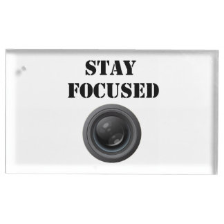 stay focused table card holder