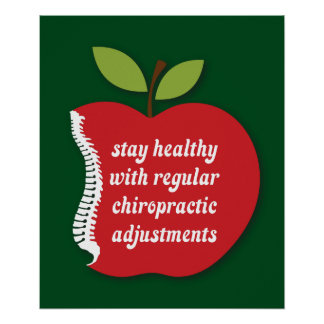 """Stay Healthy (Apple) Chiropractic Poster 20"""" x 24"""""""