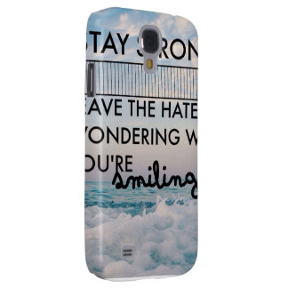 Stay strong galaxy s4 case