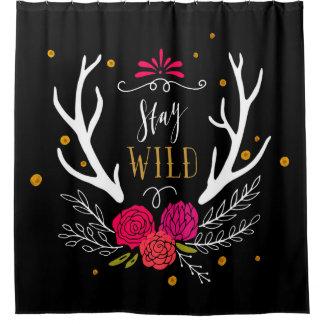 Stay Wild Shower Curtain