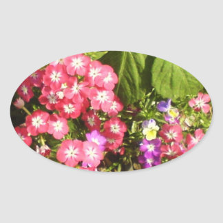 STBX Floral Decoration for Gift, Greetings, Craft Oval Sticker