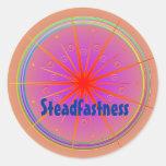 Steadfastness (Virtue sticker) Round Sticker