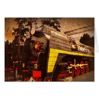 Steam Locomotive at the Kiev Railway Station Card