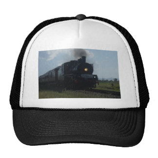 STEAM TRAIN & CARRIAGES RURAL QUEENSLAND AUSTRALIA CAP