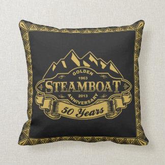 Steamboat 50th Anniversary Emblem Cushion