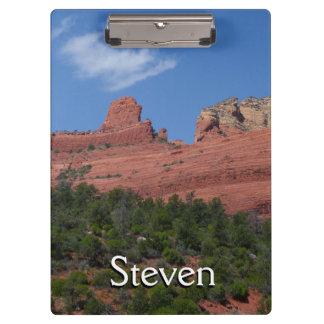 Steamboat Rock in Sedona Arizona Photography Clipboards