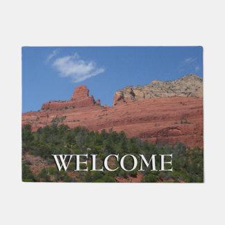 Steamboat Rock in Sedona Arizona Photography Doormat