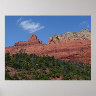 Steamboat Rock in Sedona Arizona Photography Poster