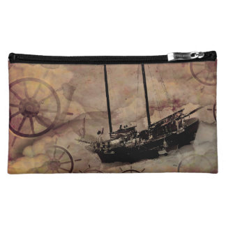 Steampunk Boat Traveller Toiletries Bag Makeup Bags