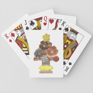 Steampunk Christmas Tree Playing Cards