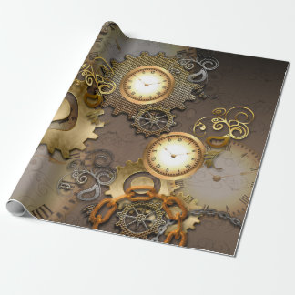 Steampunk, clocks and gears i wrapping paper