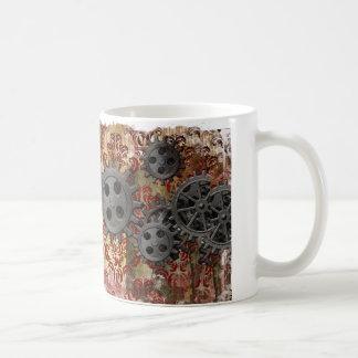 Steampunk Damask Basic White Mug