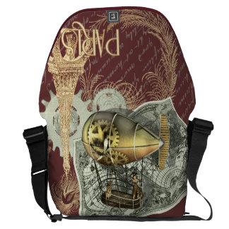 Steampunk Dirigible Air Tour Large Messenger Bag