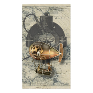 Steampunk Dirigible Balloon Ride Pack Of Standard Business Cards