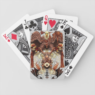 Steampunk Eagle Bicycle Playing Cards
