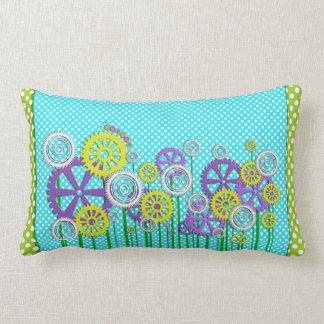 Steampunk Garden Lumbar Pillow