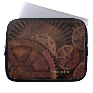 Steampunk Gears Industrial Machinery Laptop Sleeve