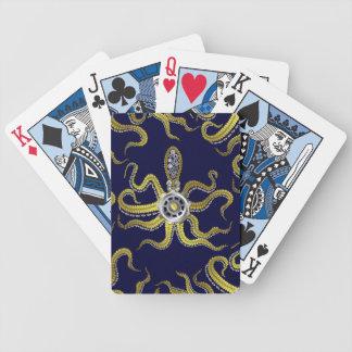 Steampunk Gears Octopus Kraken Bicycle Playing Cards