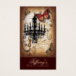 23 french furniture business cards and french furniture business steampunk goth butterfly paris vintage chandelier business card reheart Images