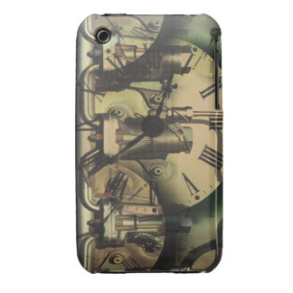 Steampunk Machine Fitting Textured Clock Faces iPhone 3 Case