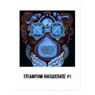 Steampunk Masquerade 1 Postcard