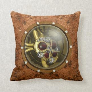 Steampunk Mechanical Heart Throw Pillows