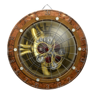 Steampunk Mechanical Heart Dartboard
