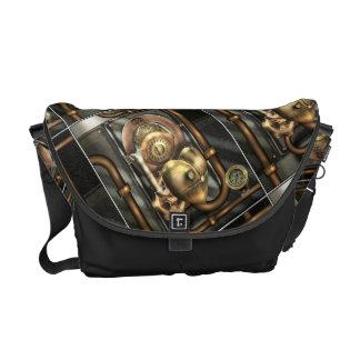 Steampunk Mechanical Heart Messenger Bags