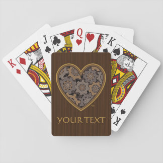 Steampunk Mechanical Heart Playing Cards