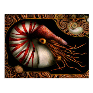 Steampunk - Nautilus - Coming out of your shell Postcard
